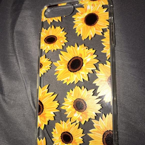 hot sale online b36b0 c9ebe iPhone 7+/8+ Clear/Sunflower Case NWT